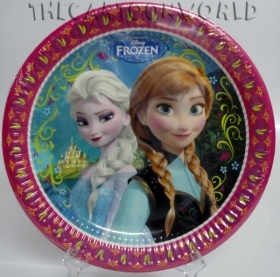 DECORATIONS, Birthday Party Plates, DISNEY FROZEN Anna Elsa 23 cm