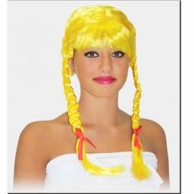FANTASTIC WIG FOR Kids and ADULTS - a BLONDE WITH PIGTAILS