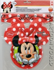 ADDOBBI Compleanno Festa FESTONE in pvc a bandierine DISNEY - MINNIE - new