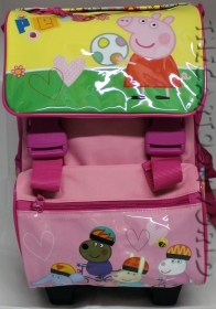 BACKPACK Folder Trolley Extensible School DISNEY Peppa Pig