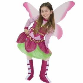 DRESS COSTUME CARNIVAL Mask girl - BUTTERFLY - FLORA