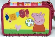 CASE SCHOOL 46 pieces - 3 HINGES DISNEY PEPPA PIG