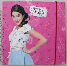 PHOTO Album and ACTIVITIES, Disney VIOLETTA with STENCILS and Stickers - I AND VIOLET