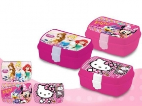 Scatola Contenitore Portamerenda  DISNEY - PRINCIPESSE - MINNIE - HELLO KITTY -