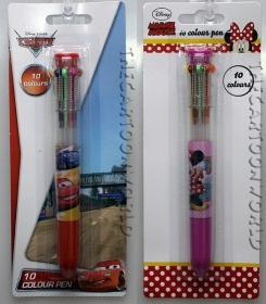 PENNA a 10 Colori DISNEY MINNIE e CARS