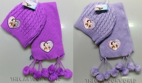 Great Set HAT and SCARF DISNEY VIOLETTA