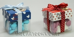 CANDY box, DISNEY pencil CASE door confetti MICKEY or MINNIE