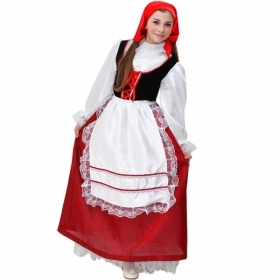 DRESS COSTUME Mask CHRISTMAS - girl WOMAN red