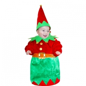 DRESS COSTUME Mask Christmas Little ELF 3-6 months