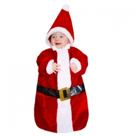 DRESS COSTUME Mask Christmas Small SANTA CLAUS 3-6 months