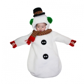 DRESS COSTUME Mask Christmas SNOWMAN 3-6 months