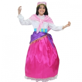 DRESS COSTUME CARNIVAL Mask Girl - ESMERALDA