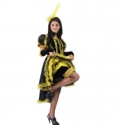 DRESS COSTUME CARNIVAL Mask girl - Dancer CAN-CAN Yellow