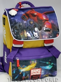 BACKPACK Rucksack Folder Extensible School, DISNEY BIG HERO 6 - With Pouch