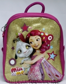 BACKPACK Rucksack Folder Kindergarten School DISNEY MIA and ME - Glitter gold