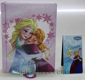 DIARY CALENDAR SCHOOL DISNEY FROZEN ELSA and ANNA - 12 Months - fabric