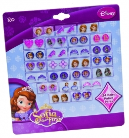 FANTASTIC SET - 24 Pairs of earring Stickers-DISNEY Princess SOFIA
