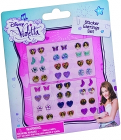 FANTASTIC SET - 24 Pairs of earring Stickers DISNEY VIOLETTA