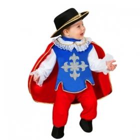 DRESS COSTUME Mask CARNIVAL BABY - MUSKETEER