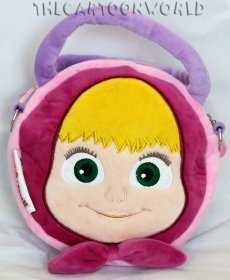 HANDBAG in Plush Shaped 3D with handles Disney - MASHA and BEAR