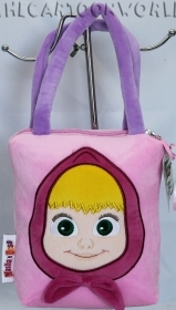 HANDBAG SHOPPER bag PLUSH - DISNEY MASHA and the BEAR b
