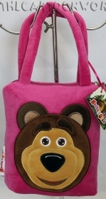 HANDBAG SHOPPER bag PLUSH - DISNEY MASHA and BEAR