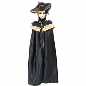 DRESS COSTUME CARNIVAL Mask Adult DOMINO pajette black