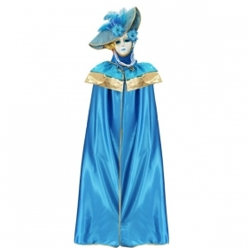 DRESS COSTUME CARNIVAL Mask Adult DOMINO pajette turquoise