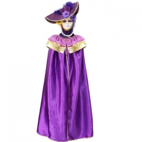DRESS COSTUME CARNIVAL Mask Adult DOMINO pajette purple