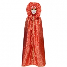 DRESS COSTUME CARNIVAL Mask Adult DOMINO red