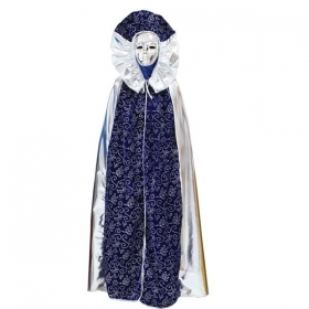 DRESS COSTUME CARNIVAL Mask Adult DOMINO Rolled royal