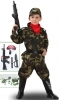 DRESS COSTUME Mask CARNIVAL baby - Soldier MILITARY