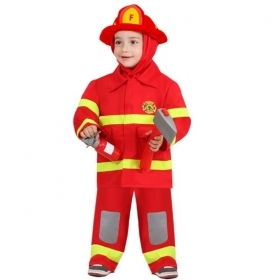 DRESS COSTUME CARNIVAL Mask First Steps - SMALL FIREFIGHTER