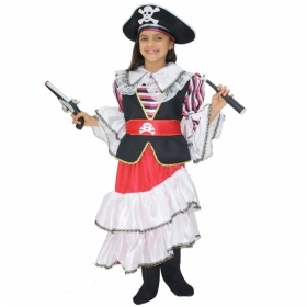 DRESS COSTUME Mask CARNIVAL child - QUEEN OF PIRATES - 6-7 years