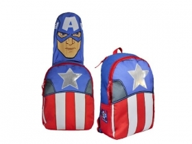 BACKPACK Folder for School, AVENGERS CAPTAIN AMERICA hooded