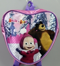 BACKPACK to the HEART Holdall Folder Kindergarten School DISNEY - MASHA and the BEAR