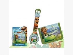 FANTASTIC SET, WRIST WATCH and WALLET, DISNEY THE GOOD DINOSAUR - ARLO