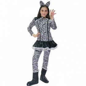 DRESS COSTUME CARNIVAL Mask girl - the WHITE TIGER