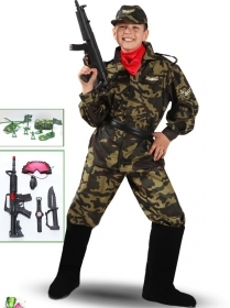 DRESS COSTUME CARNIVAL Mask child - Soldier MILITARY