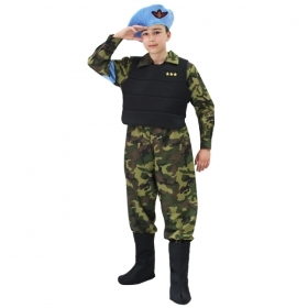 DRESS COSTUME CARNIVAL Mask child - Soldier U. N. S. MARINES