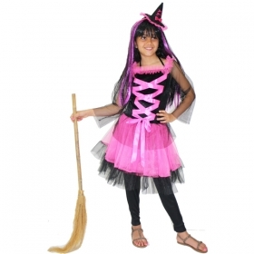 DRESS COSTUME Mask CARNIVAL HALLOWEEN girl - WITCH SABRINA