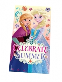 Beach TOWEL / swimming Pool DISNEY FROZEN ELSA and ANNA 70x140 cm