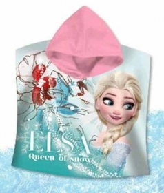 PONCHO BATHROBE BEACH TOWEL DISNEY FROZEN - ELSA