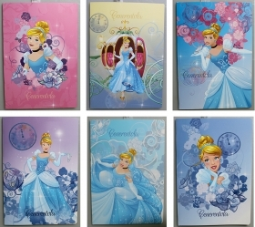 5 Quadernoni Notebooks and maxi/4 Disney CINDERELLA Lining B - 3 elementary