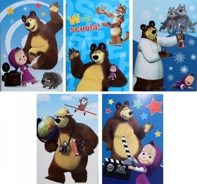 5 Quadernoni Notebooks and maxi/4 Disney MASHA and the BEAR - Lining - 1' and 2' ele