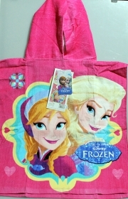 PONCHO BATHROBE BEACH TOWEL DISNEY - FROZEN - ELSA AND ANNA