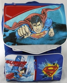 BACKPACK Folder Extensible the School - to- DISNEY - SUPERMAN with Headphones free