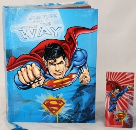 DIARY CALENDAR SCHOOL DISNEY SUPERMAN - 12 Months new in