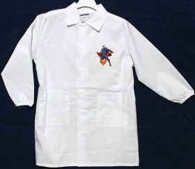 APRON Primary School, white - DISNEY SUPERMAN