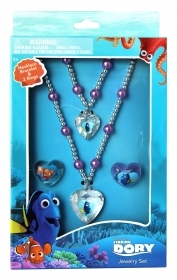 Set BRACELET NECKLACE AND 2 Rings accessories Disney Nemo THE finding DORY